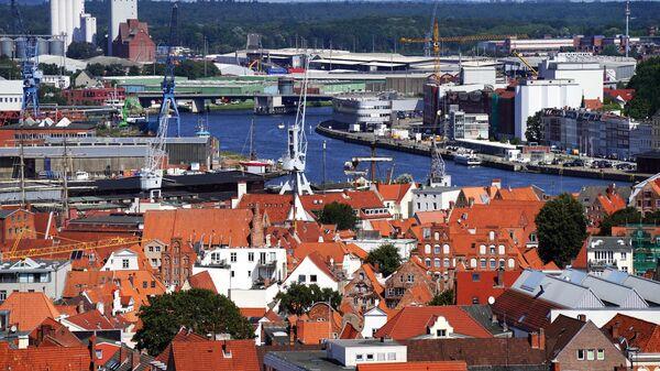 Вид на город Любек с верхней точки