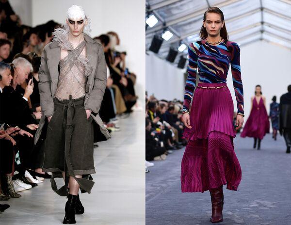 Показ коллекций одежды сезона Осень-Зима 2019/2020 Maison Margiela в Париже и Roberto Cavalli в Милане