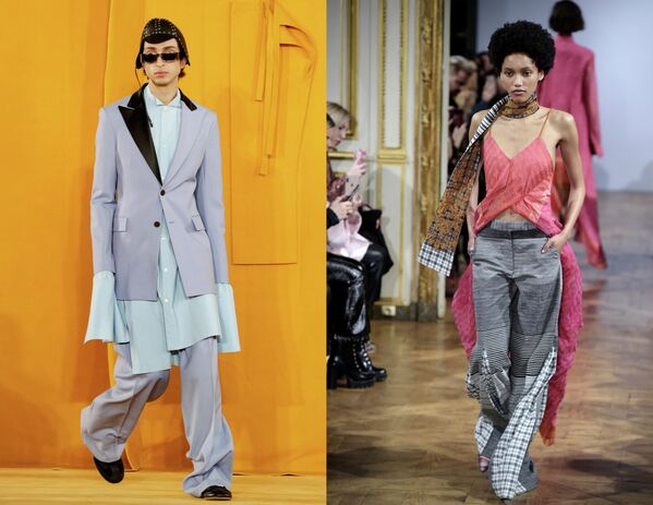 Показ коллекций одежды сезона Осень-Зима 2019/2020 Loewe Homme и Rahul Mishra в Париже