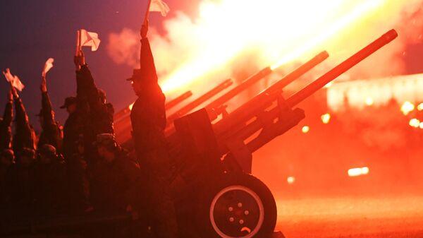 LIVE: Салют в Москве в честь 75-летия освобождения Молдовы от фашистских захватчиков