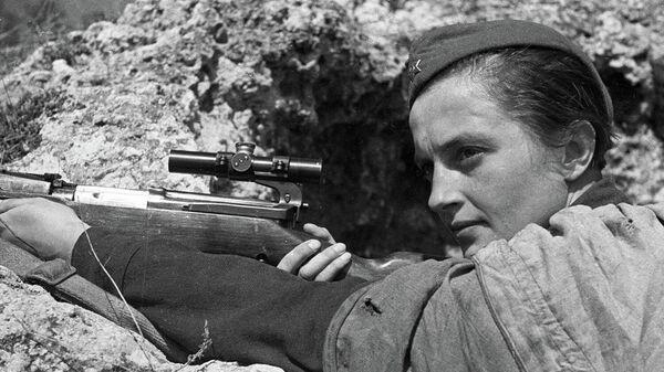 Людмила Павличенко. 6 мая 1942 года, Севастополь
