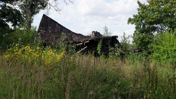Дом, в котором в годы ВОВ размещался штаб латвийских карателей