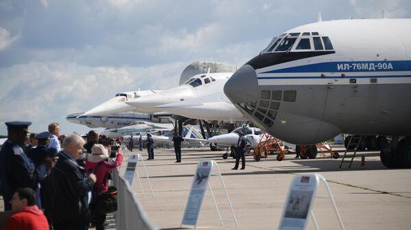 Открытие Международного авиационно-космического салона МАКС-2019 в подмосковном Жуковском. 27 августа 2019