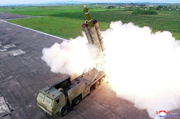 Испытания новой ракетной пусковой установки в КНДР.  24 августа 2019