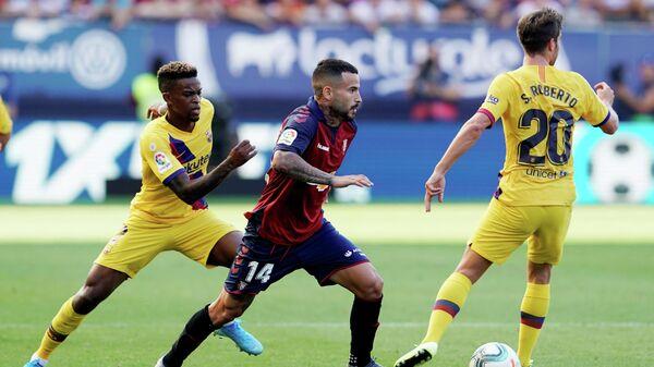 Игровой момент матча Барселона - Осасуна