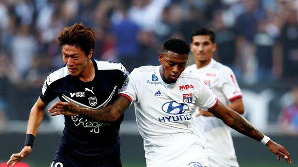 Игровой момент матча Лион - Бордо