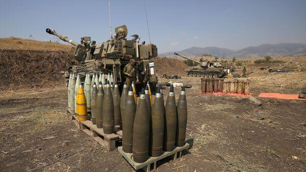 Израильские артиллерийские снаряды вблизи ливанской границы