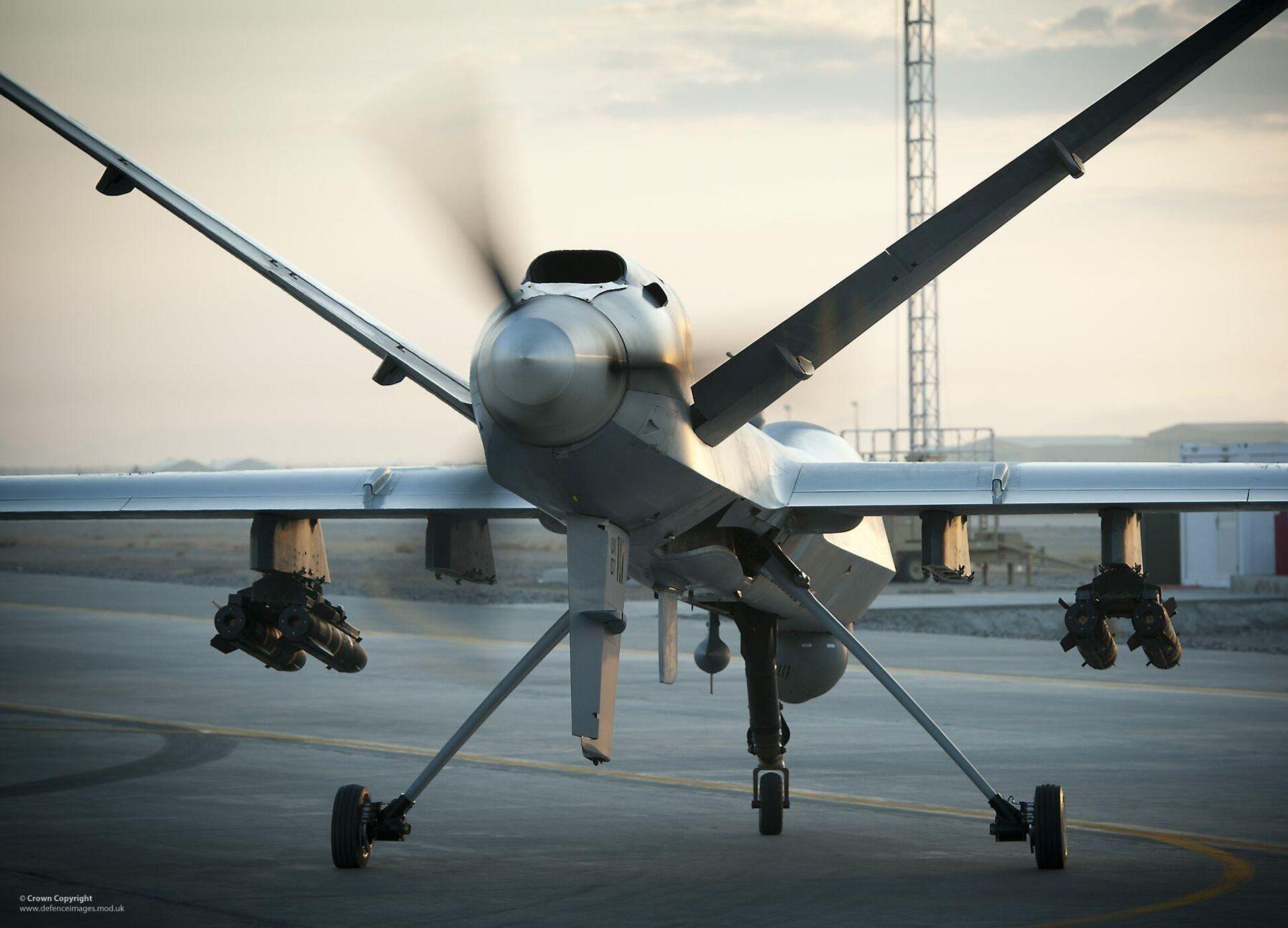 Разведывательно-ударный БПЛА MQ-9 Reaper британских ВВС - РИА Новости, 1920, 19.03.2021