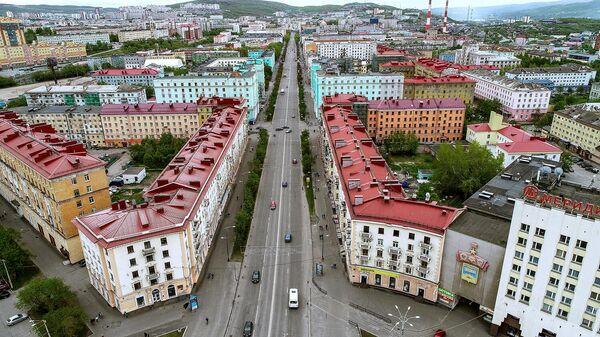 Проспект Ленина в Мурманске