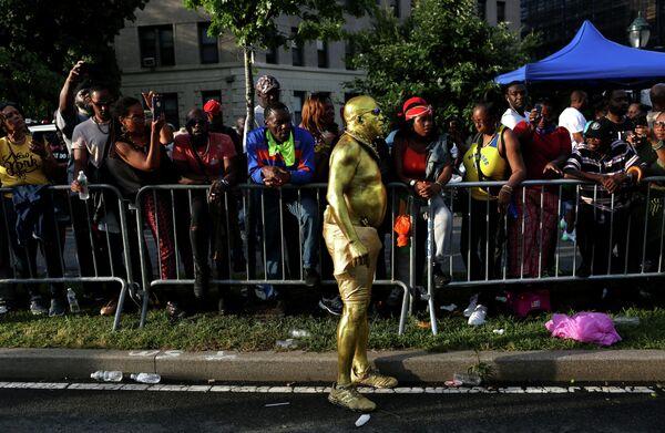 Участники фестиваля карибской культуры в Нью-Йорке