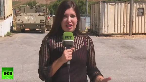 Журналист RT побывала на израильской базе, эвакуированной после обстрела