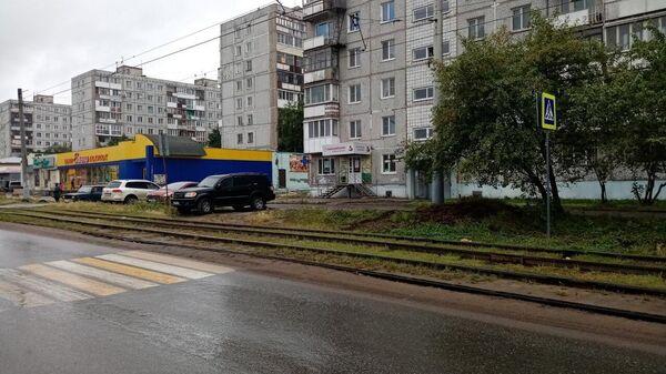 Пешеходный переход на одной из улиц в Омске
