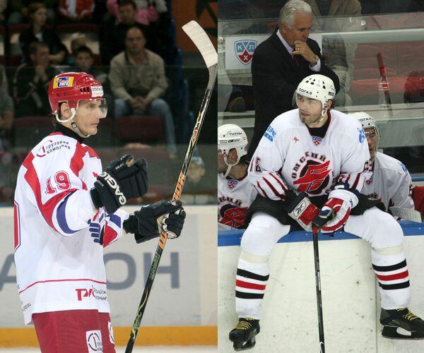 Алексей Яшин (слева) и Яромир Ягр