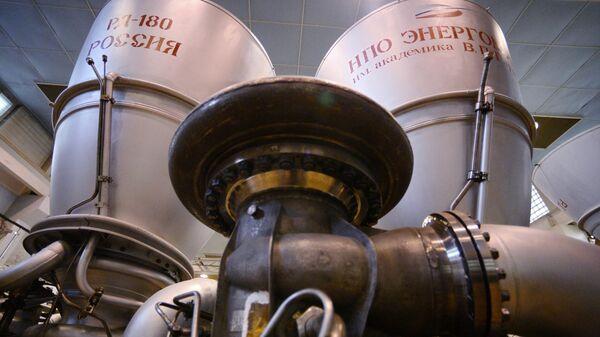 Ракетный двигатель РД-180 в цехе НПО Энергомаш в Московской области