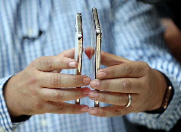 Телефоны iPhone 11 на презентации новинок компании Apple