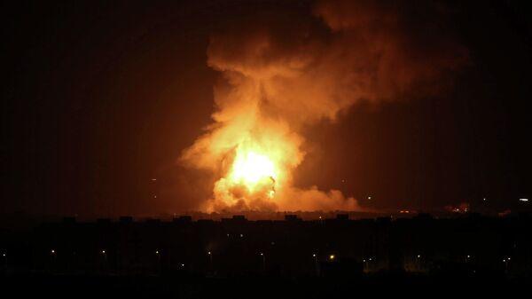Последствия авиаудара ВВС Израиля в секторе Газа. 11 сентября 2019