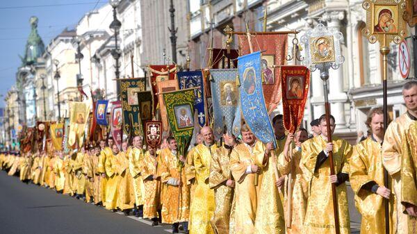 Крестный ход в честь Дня перенесения мощей Александра Невского
