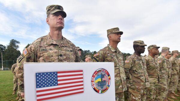 Военнослужащие армии США во время учения Rapid Trident-2019 во Львовской области