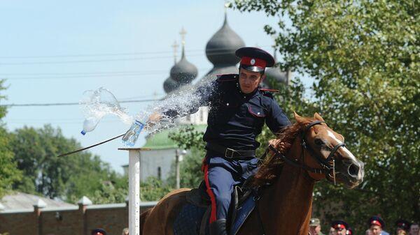 Конноспортивные состязания в станице Старочеркасской Ростовской области