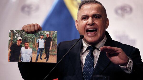Генеральный прокурор Венесуэлы Тарек Уильям Сааб опубликовал снимки председателя Национальной ассамблеи Венесуэлы Хуана Гуаидо с предполагаемыми членами банды Los Rastrojos