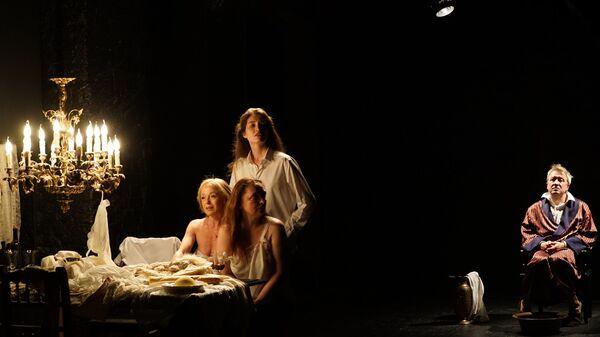 Фрагмент спектакля Кровь книги. Флобер в МДТ-Театре Европы