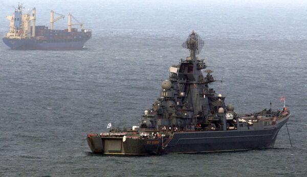 Флагман Северного флота, атомный ракетный крейсер Петр Великий в Венесуэле