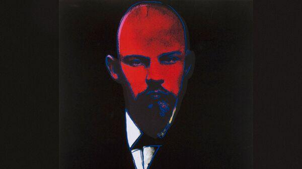 Фрагмент картины Ленин (1986) Энди Уорхолла