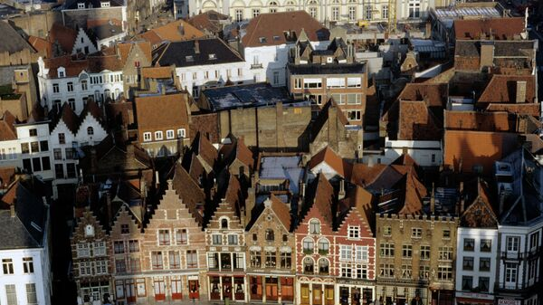 Панорама города Брюгге - главного города бельгийской провинции Западная Фландрия
