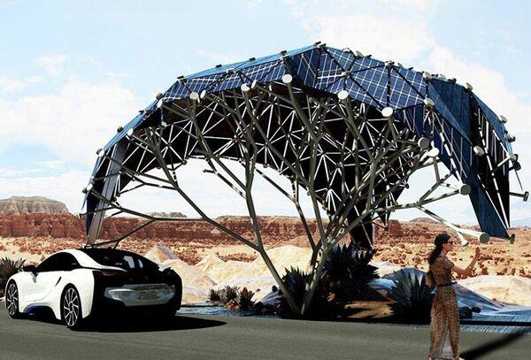 Интеллектуальная солнечная городская мебель