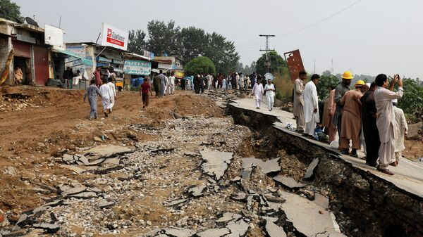 Последствия землетрясения в Пакистане. 25 сентября 2019