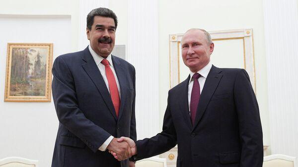 Президент РФ Владимир Путин и президент Венесуэлы Николас Мадуро