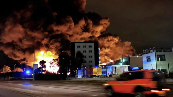 Пожар на химическом заводе Lubrizol в Руане, Франция. 26 сентября 2019