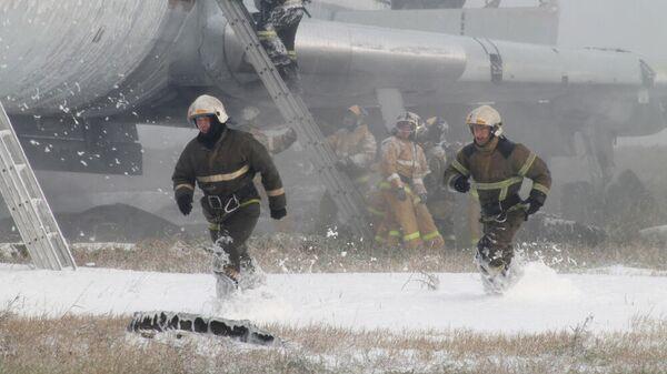 Учения МЧС в аэропорту Барнаула