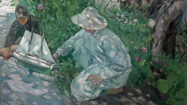 Игнази Мальол. Кусты роз (Коста-Брава). 1920. Национальный музей искусства Каталонии