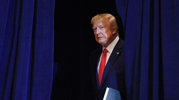 Президент США Дональд Трамп на пресс-конференции во время проведения Генеральной Ассамблеи ООН в Нью-Йорке
