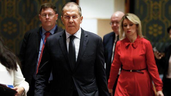 Министр иностранных дел России Сергей Лавров на 74-й сессии Генеральной Ассамблеи ООН в Нью-Йорке. 27 сентября 2019
