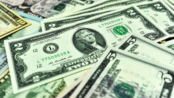 Банкноты долларов США различного достоинства