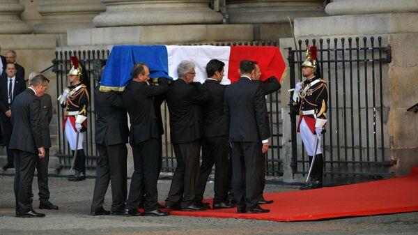 Церемония прощания с Жаком Шираком