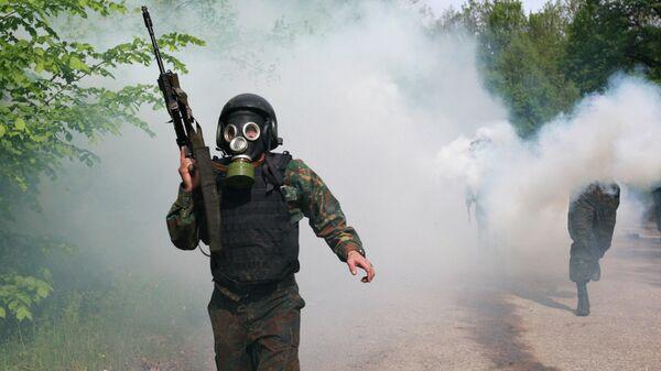 Бойцы отделов специального назначения ФСИН России во время испытаний на право ношения крапового берета