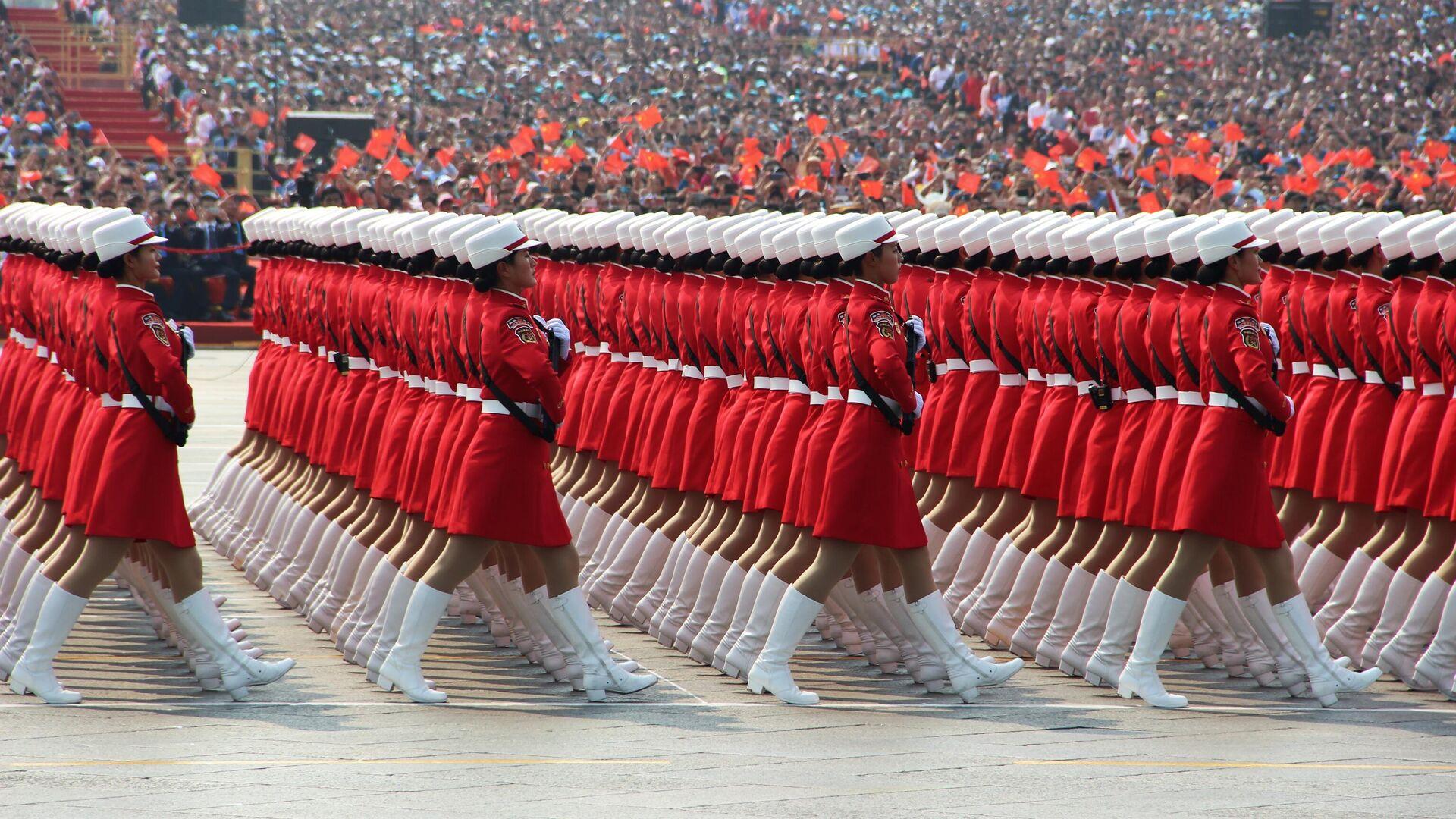 Военный парад, приуроченный к 70-летию образования Китая, в Пекине - РИА Новости, 1920, 25.06.2021