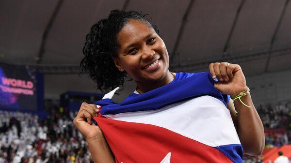 Легкоатлетка Яйме Перес (Куба)