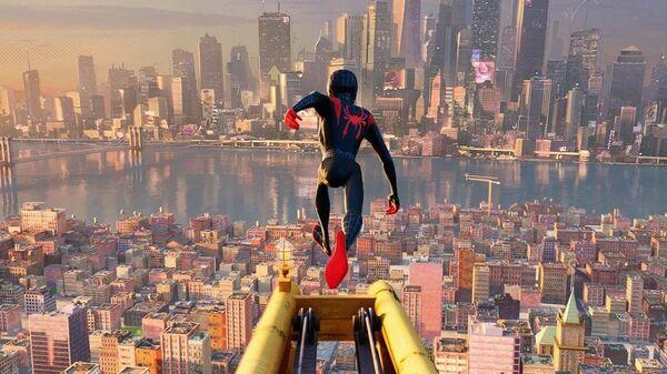 Кадр из мульфильма Человек-паук: Через вселенные
