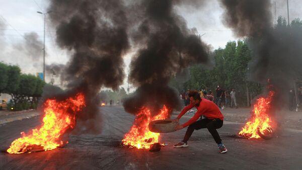Акция протеста в Багдаде, Ирак