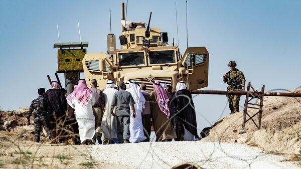 База международной коалиции под руководством США в сирийской провинции Эль-Хасака