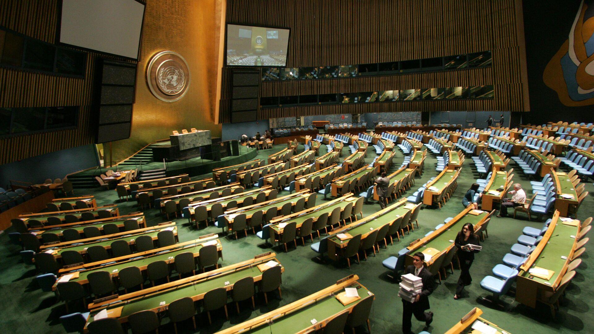 Зал Генассамблеи Организации Объединенных Наций в Нью-Йорке - РИА Новости, 1920, 22.09.2020