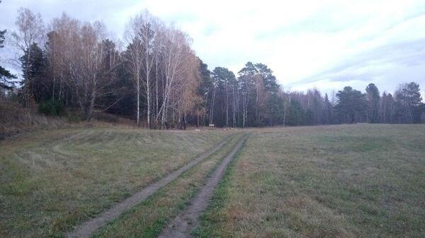 Место, где располагался детский лагерь Перевал в Томской области