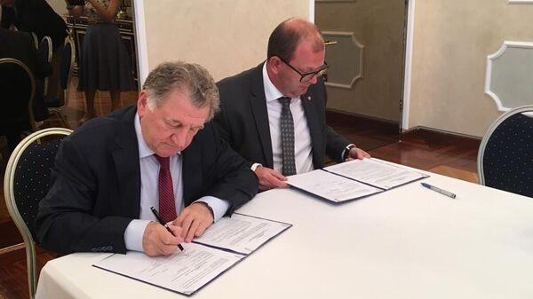 Подписание соглашения между Ростехом и Внешэкономбанком