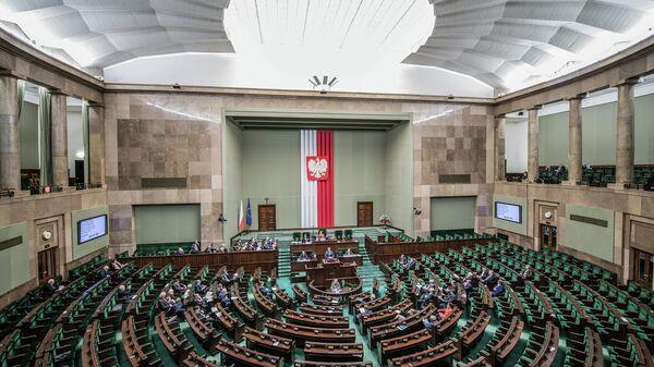 Зал заседаний парламента Польши