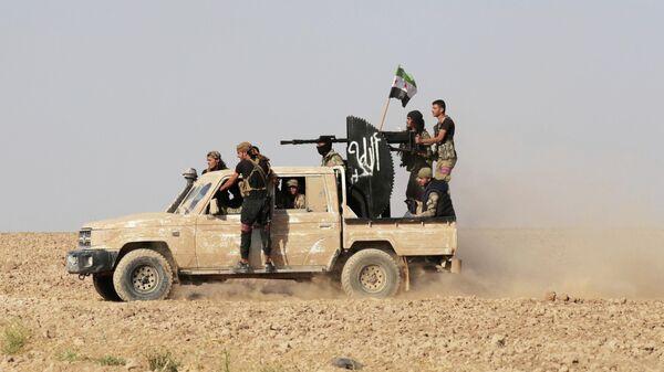 Члены сирийских военизированных формирований, лояльных Турции, на северо-востоке Сирии. 13 октября 2019