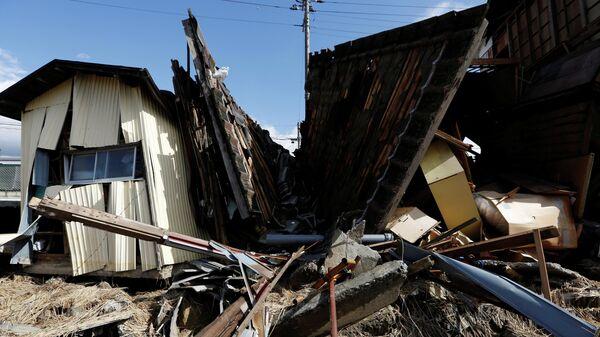 Разрушенные дома после тайфуна Хагибис в Японии. 15 октября 2019